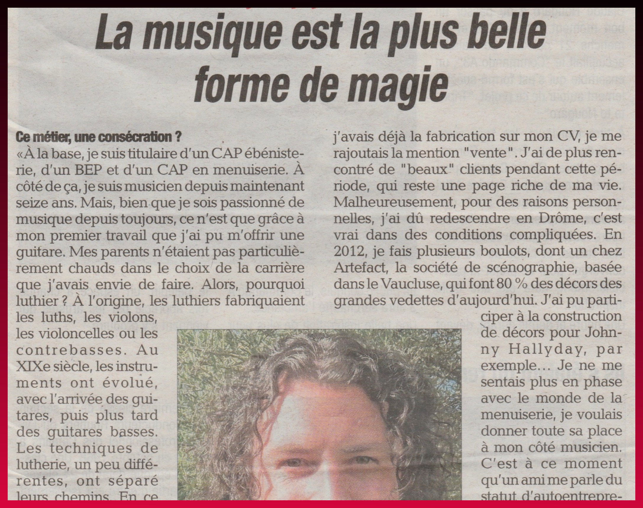 La tribune de Montélimar article sur Speach Art